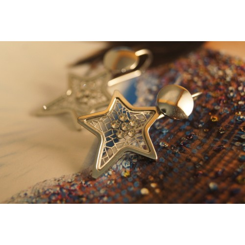 The Star-Addiction silver earrings