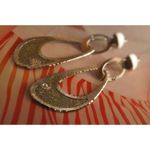 The Allurement silver earrings