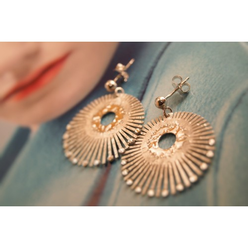 The Radiance in Gold silver earrings