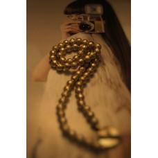 The Golden Balls silver necklace