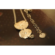 The Coins in Crystals silver necklace
