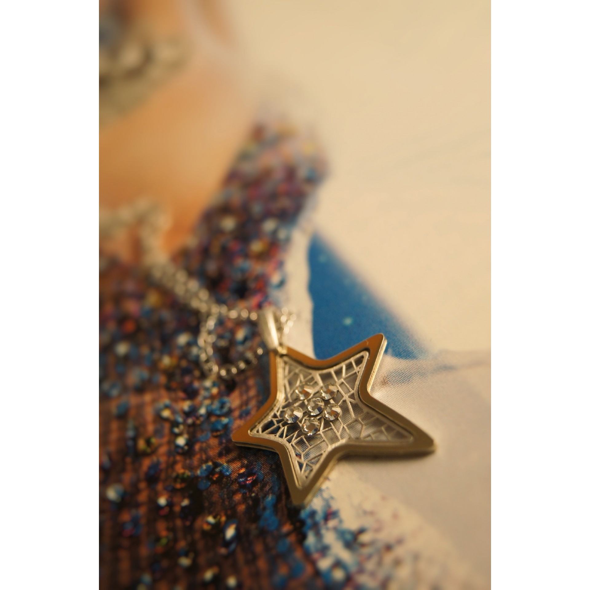 The Star-Addiction in Gold silver necklace