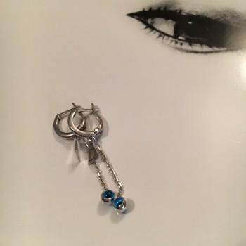 Lucky Evil Eye silver earrings