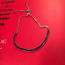 Silver & Royal Blue Zircon silver bracelet