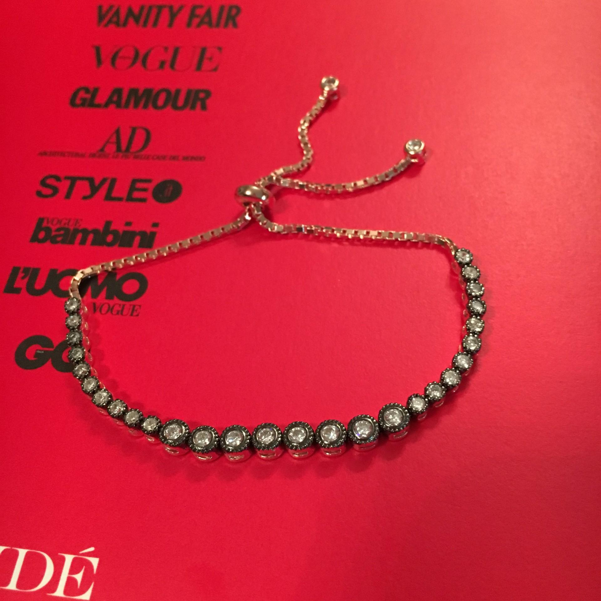 Silver & White Zircon II silver bracelet