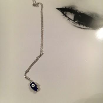 Sterling Silver Hamsa hand silver necklace