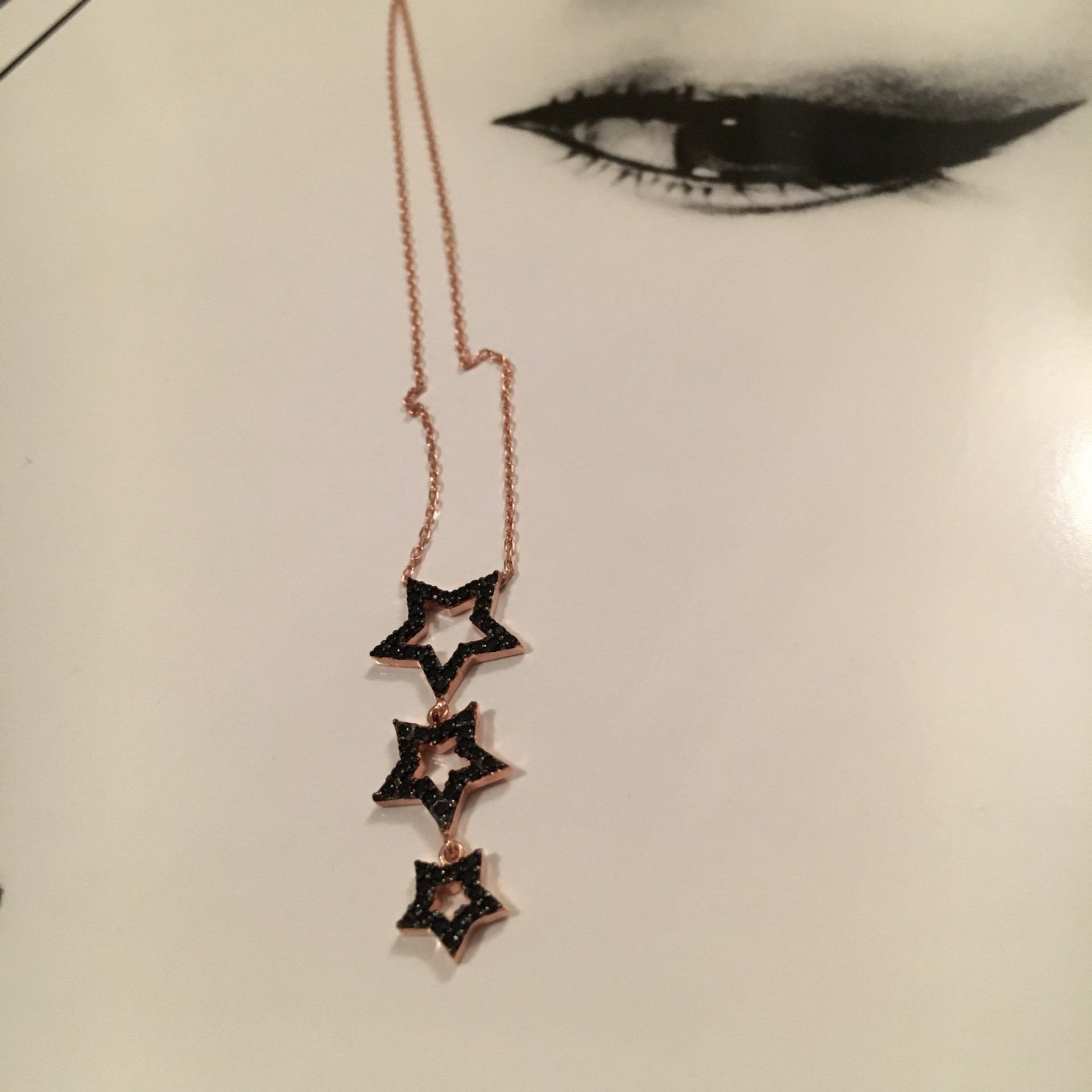 The Three Stars silver necklace