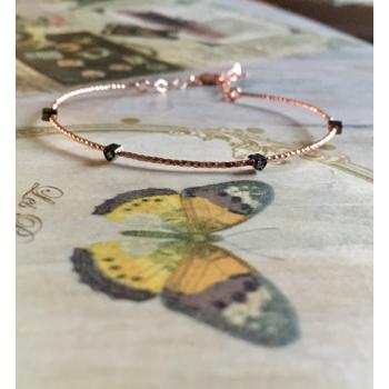 Rose Gold Heart silver bracelet