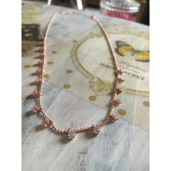 The Rose Gold Inspiration silver necklace