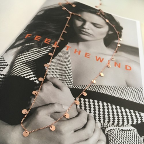Feel the Wind Gold Coins Necklace