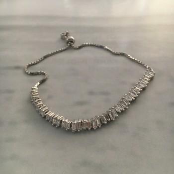 The White temptation silver bracelet