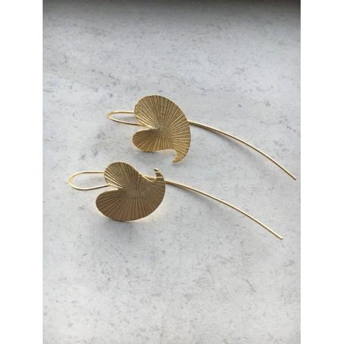 The Golden Leaf earrings