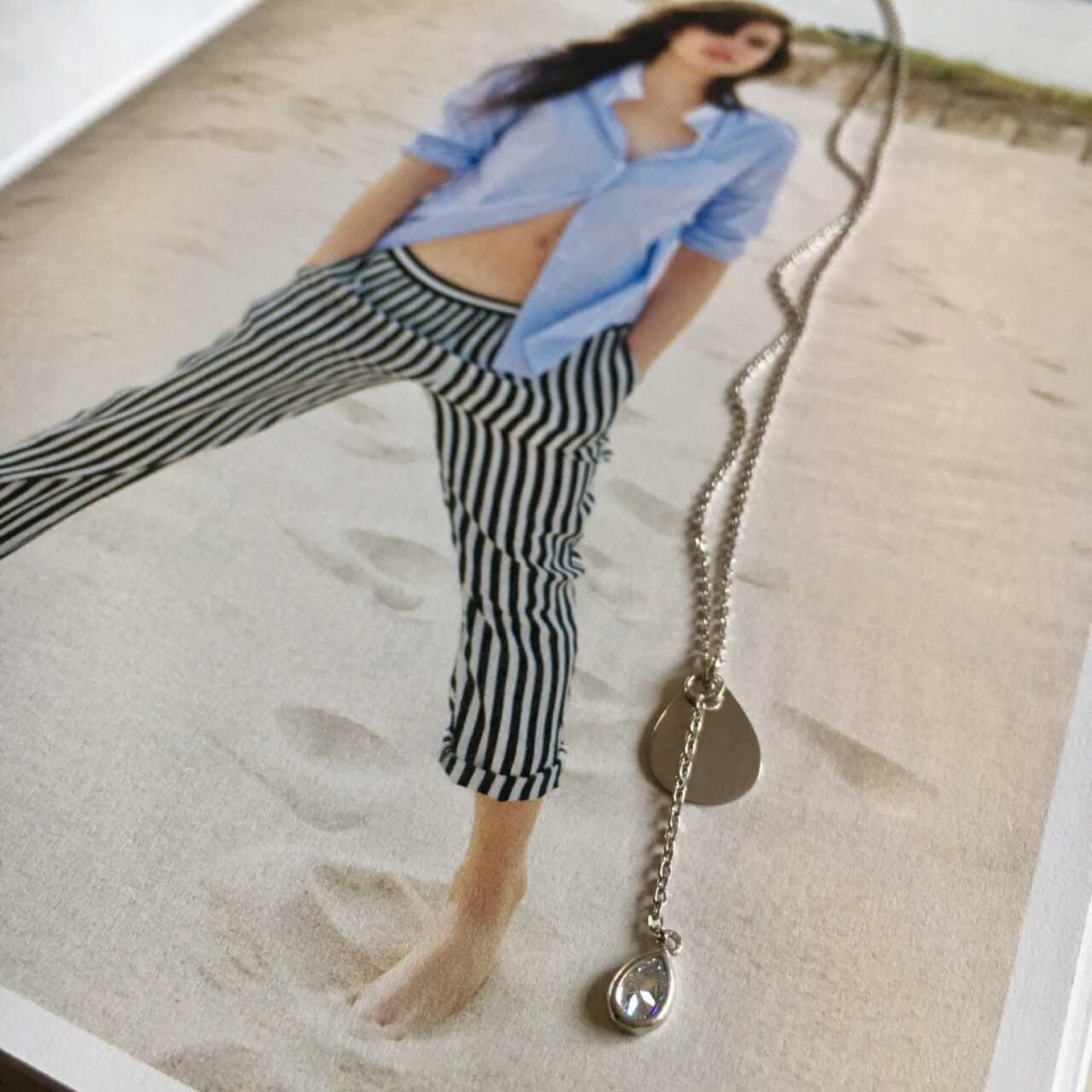 """""""Feel the sand"""" I silver necklace"""