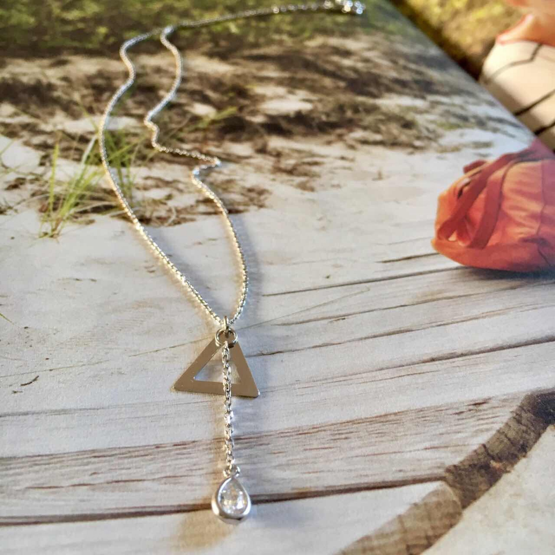 Feel the sand II silver necklace