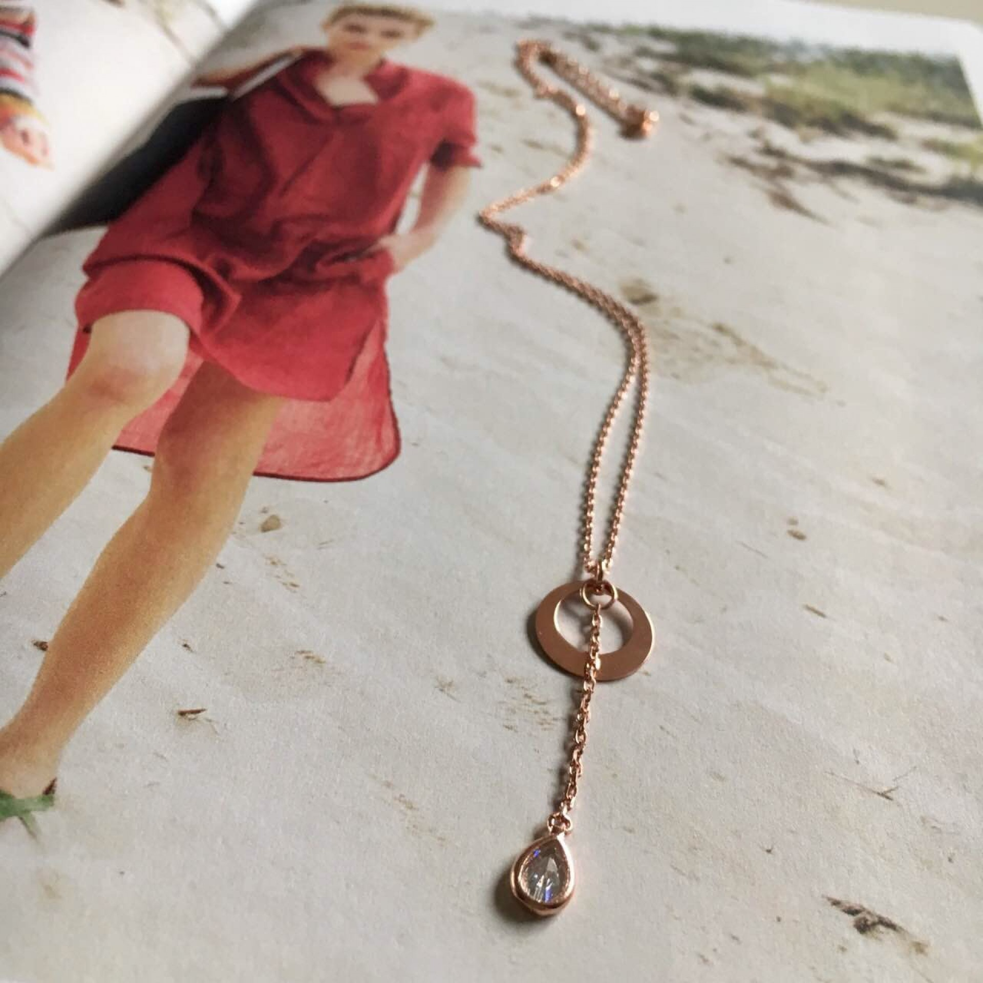 """""""Feel the sand"""" III silver necklace"""