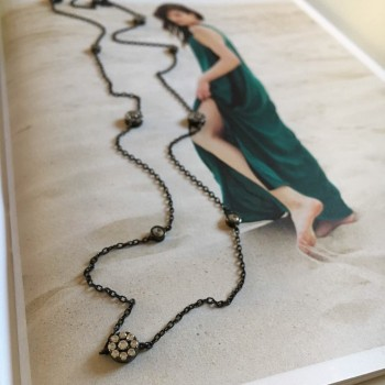The Infinity II silver necklace