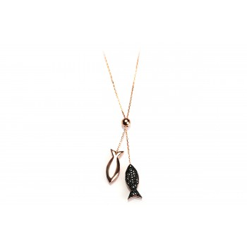 The Wish-Fishes silver necklace